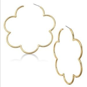 Kate Spade Gold-Plated Scallop Hoops, NEW!